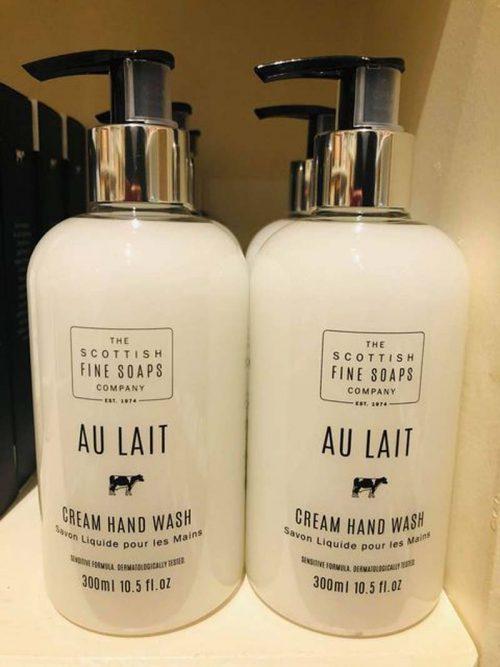 Au lait cream handwash jail dornoch