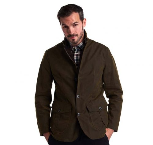 BARBOUR MENS LUTZ WAX JACKET AT JAIL DORNOCH