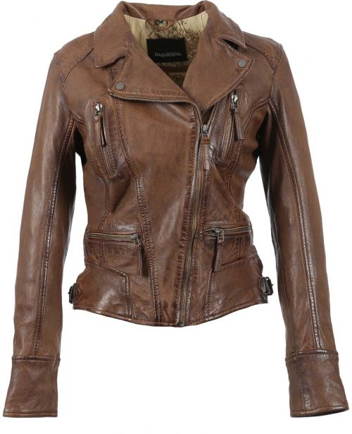 Camera Biker Jacket Cognac by Oakwood at Jail Dornoch