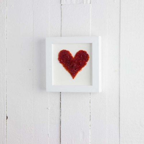 MEDIUM RED ART FRAME HEART JAIL DORNOCH