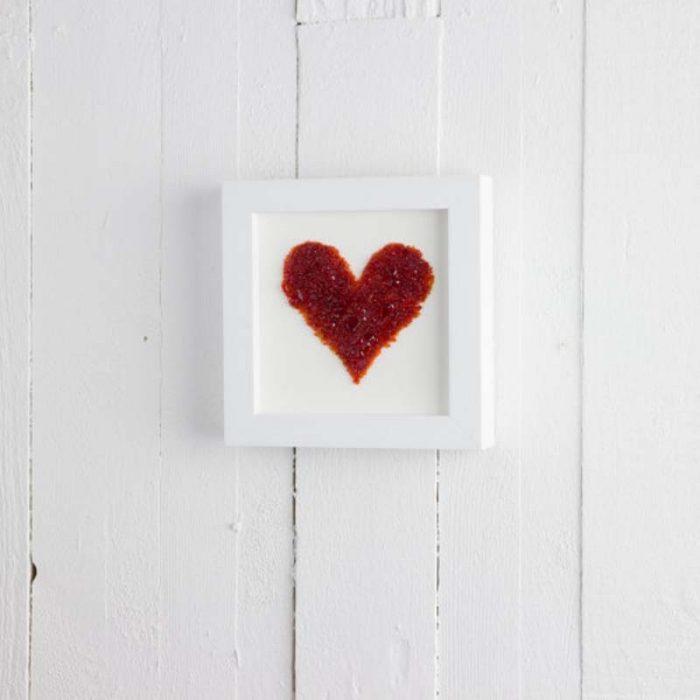 MEDIUM RED ART FRAME HEART JAIL DORNOCH