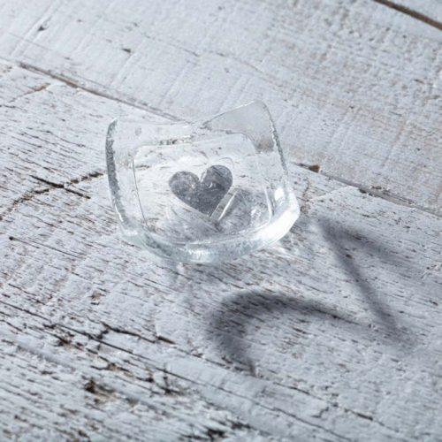 clear silver heart earring dish jail dornoch