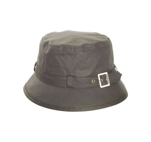 kelso wax belted hat olive jail dornoch