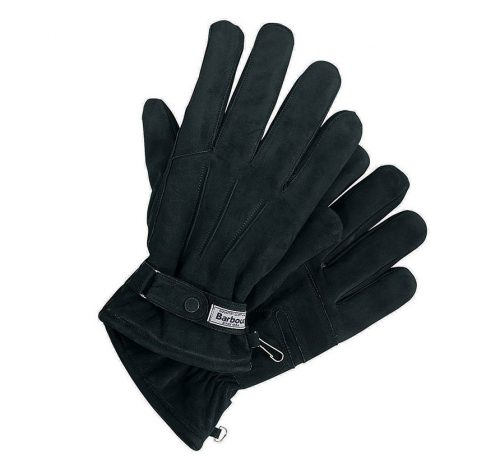 BARBOUR BLACK LEATHER GLOVES JAIL DORNOCH