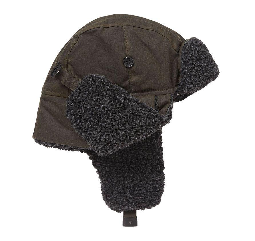 barbour fleece lined trapper hat jail dornoch
