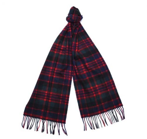 macdonald new check tartan scarf jail dornoch
