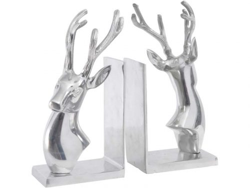 SILVER STAG BOOKENDS JAIL DORNOCH
