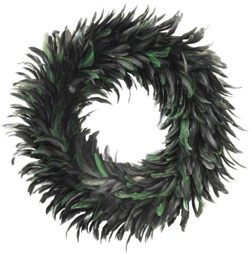 feather wreath green jail dornoch