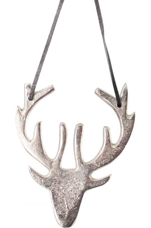 silver reindeer hanging decoration jail dornoch