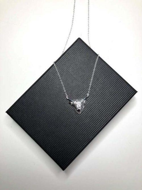 highland cow silver necklace jail dornoch