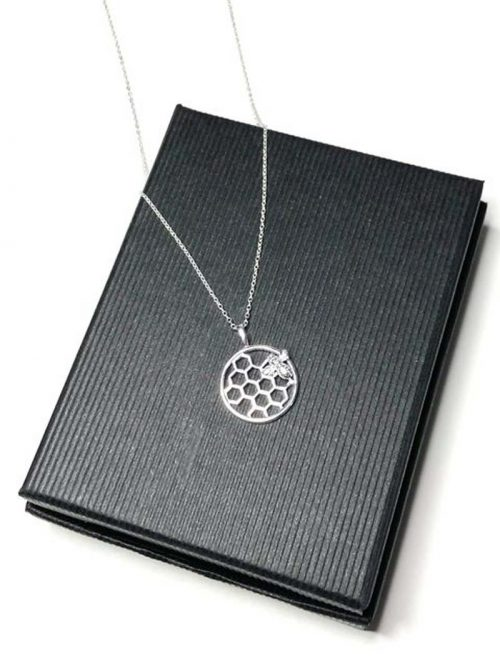 bee silver necklace jail dornoch
