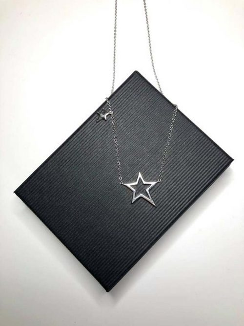 duet star necklace silver jail dornoch