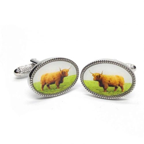 highland cow cufflinks jail dornoch