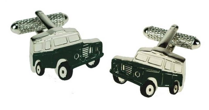 black white jeep cufflinks