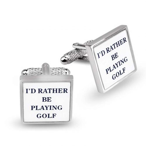 id rather be playing gold cufflinks