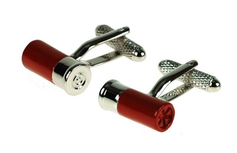 red cartridge cufflink