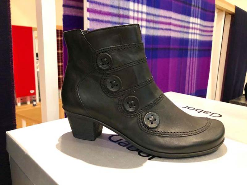 black ankle boot with heel jail dornoch
