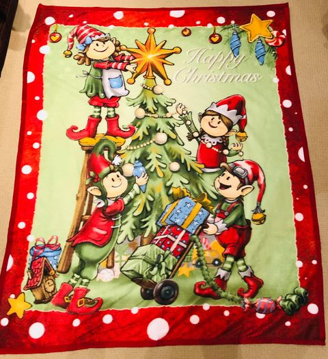 happy xmas fleece blanket jail dornoch