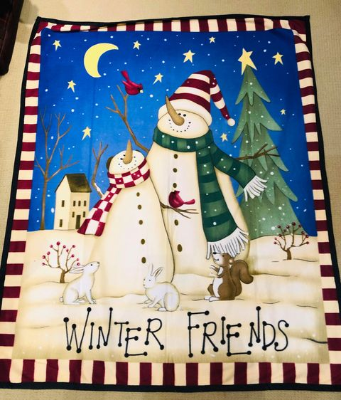 winter friends xmas blanket jail dornoch