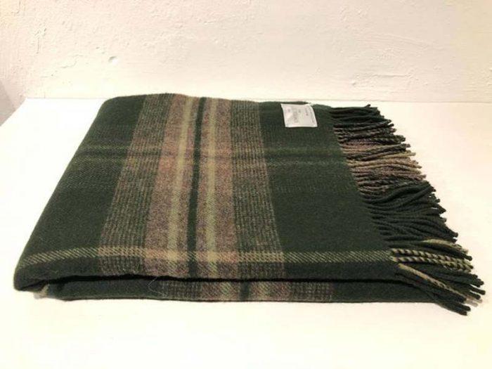 green check wool throw jail dornoch