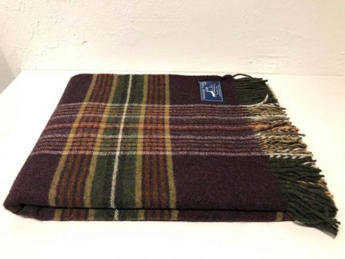 wine check tartan wool throw jail dornoch