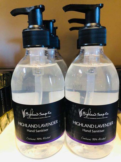 highland soap lavender hand sanitiser jail dornoch