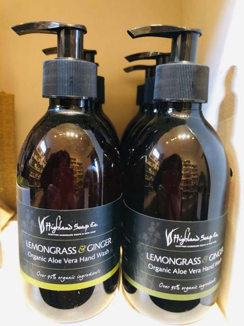 lemongrass and ginger handwash jail dornoch