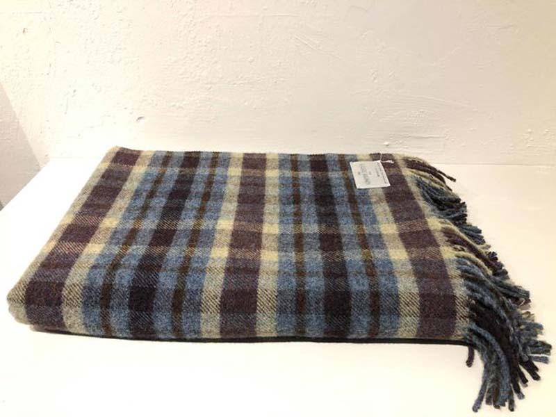 multi colour shetland wool throw jail dornoch