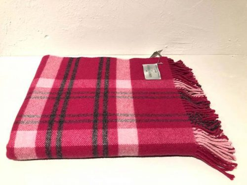 pink lambswool throw jail dornoch