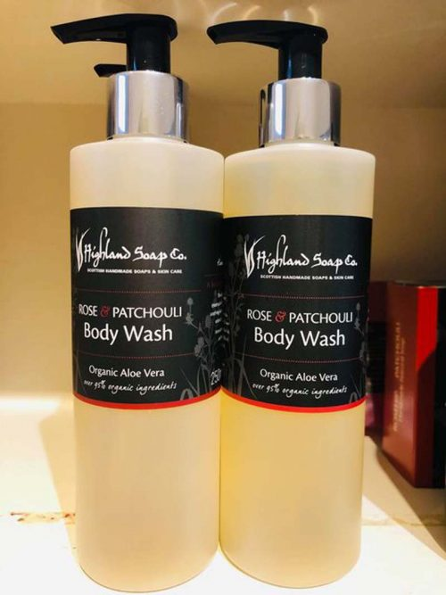 ROSE AND PATCHOULI BODY WASH JAIL DORNOCH