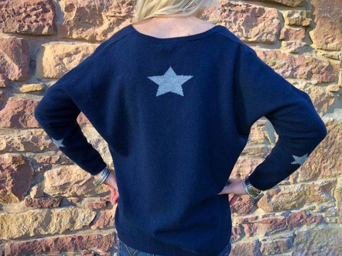 brodie cashmere navy with stars jail dornoch
