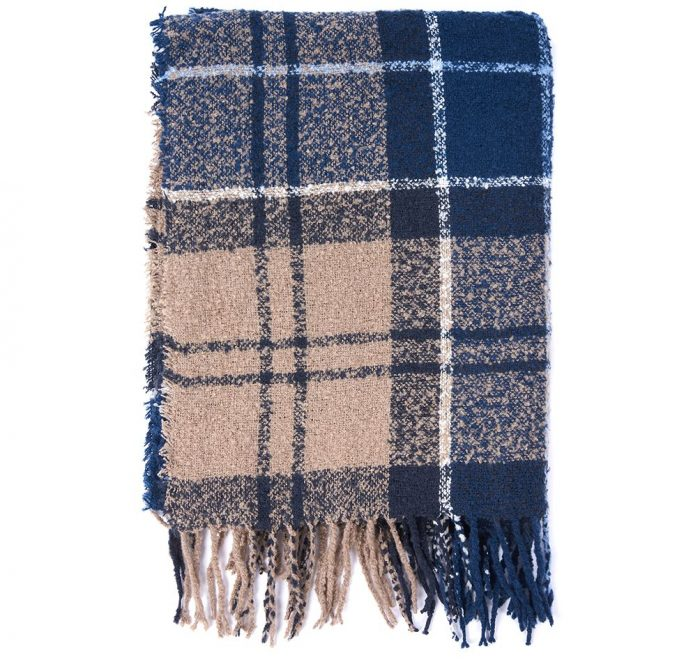 blue trench scarf barbour jail dornoch