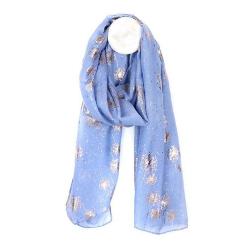 DUSTY BLUE LADIES SCARF JAIL DORNOCH