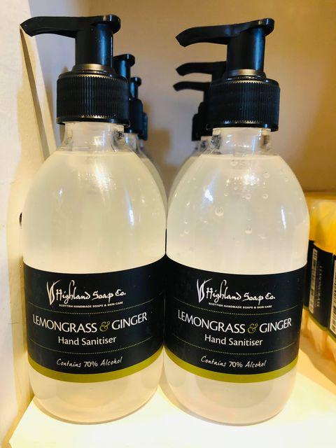 hand sanitiser highland soap company jail dornoch