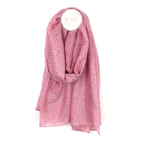 dusty pink with rose gol dot scarf jail dornoch