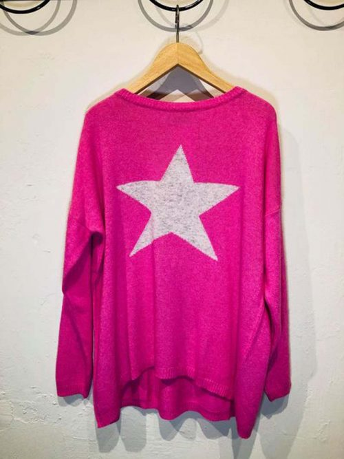pink cashmere blend jumper jail dornoch