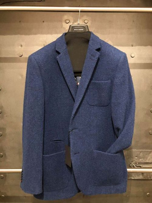 BLUE TWEED JACKET JAIL DORNOCH