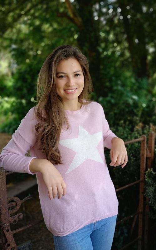 baby pink cashmere blend jumper jail dornoch