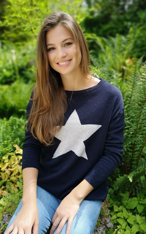 luella knitwear cashmere jumper navy star jail dornch