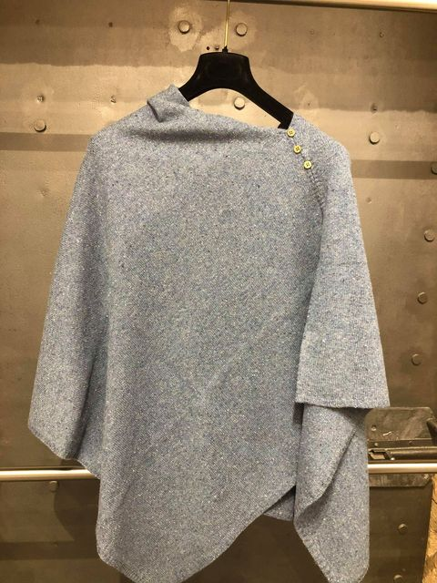 LADIES WOOL MIX PONCHO JAIL DORNOCH