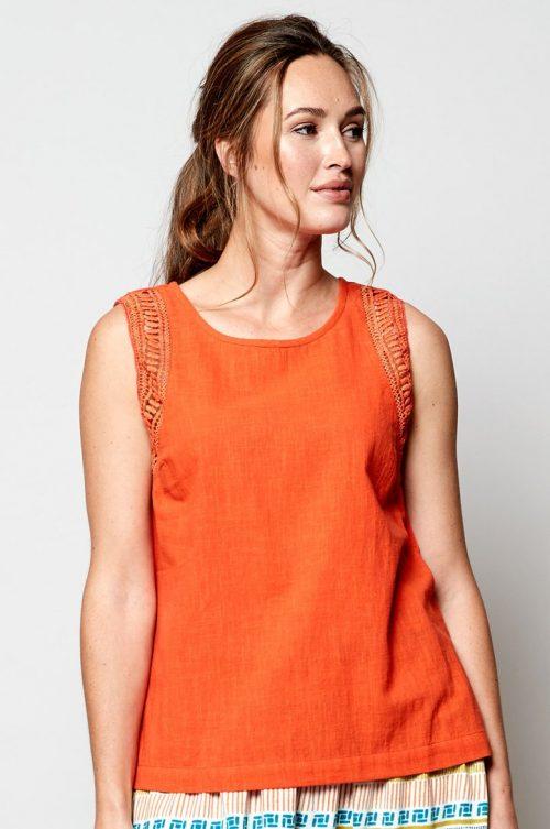 ladies crochet vest mango jail dornoch