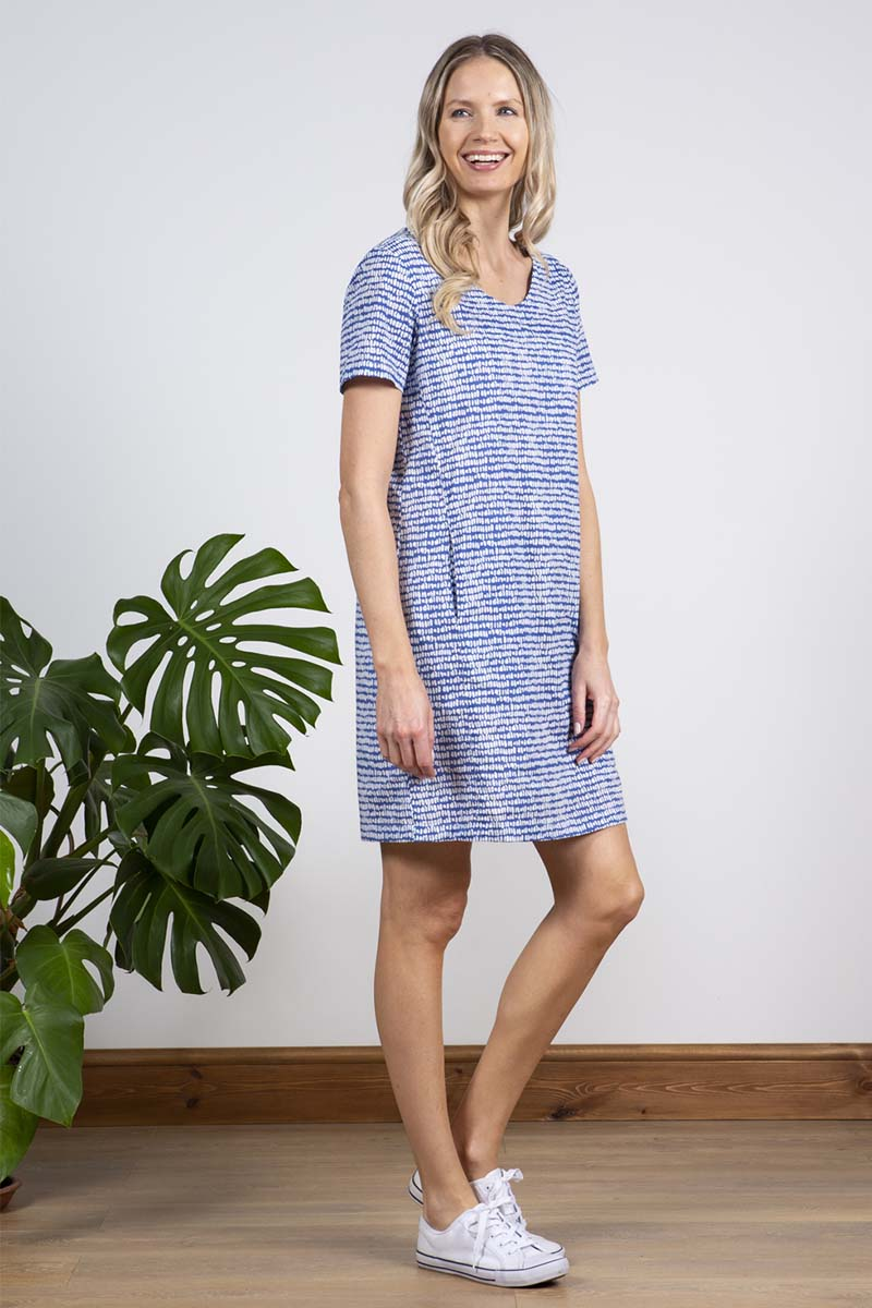 LILLY AND ME MINI LIGHTHOUSE DRESS COBALT