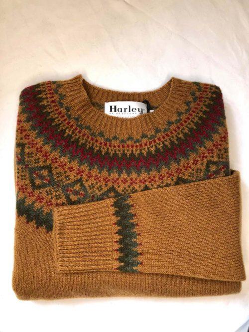 harley of scotland fair isle lambswool sweater
