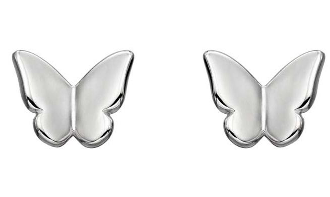 silver butterfly stud earrings jail dornoch