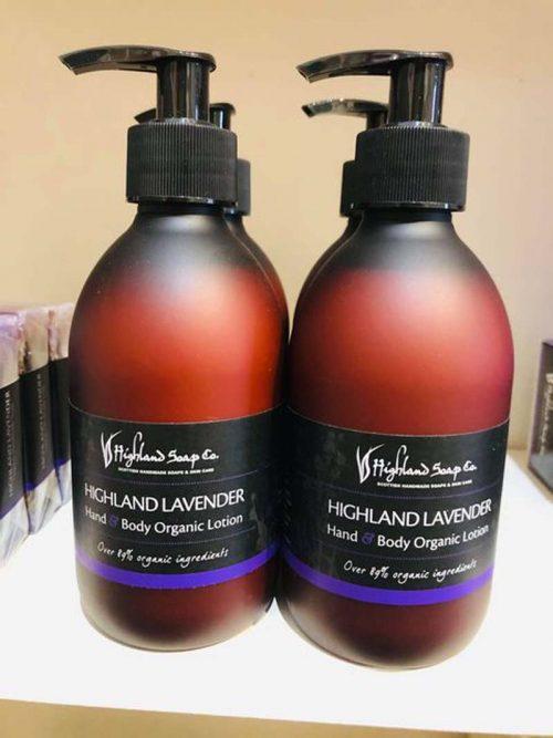 hihgland lavender hand and body lotion jail dornoch