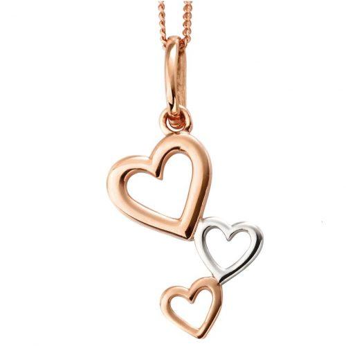 multi heart gold silver necklace jail dornoch