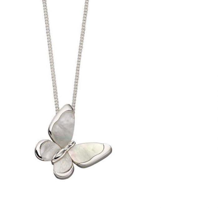 silver butterfly necklace jail dornoch