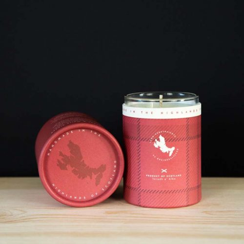 raspberry and white ginger mini candle jail dornoch