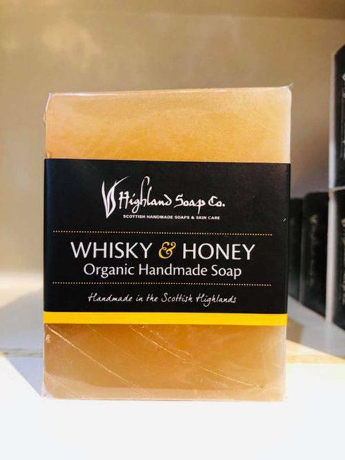 whiskey and honey handmade scottish soap jail dornoch