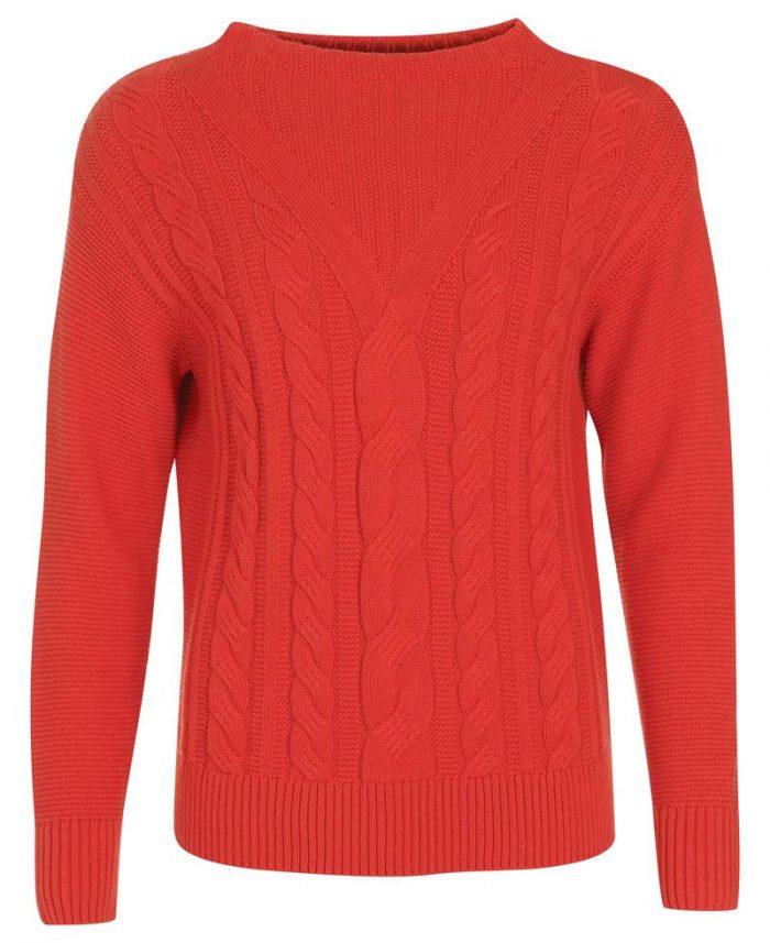 ladies barbour knit jumper red jail dornoch